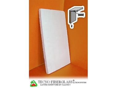 Fireproof gypsum plasterboard for partition walls TECNO FIBERGLASS®