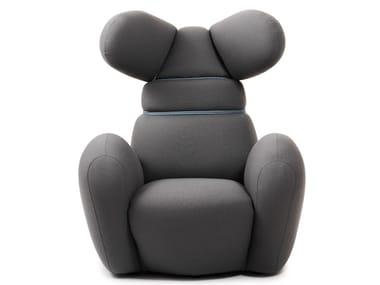 Armchair with armrests with headrest BUNNY