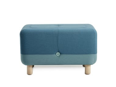 Upholstered fabric pouf SUMO