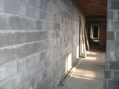 Sound insulating concrete masonry block Bioclima fonoisolante da intonaco