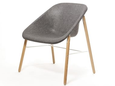 Poltroncina in poliestere KOLA LIGHT WOOD