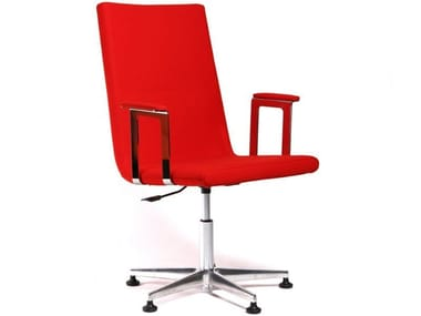 Chair with armrests with castors BASSO L | Chair with castors