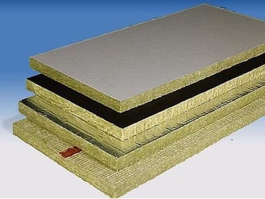 Rock wool Thermal insulation panel / Sound insulation and sound absorbing panel in mineral fibre PAROC Slab - PAROC Pro Slab