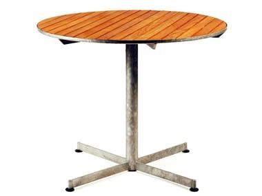 Round teak table TERRACE