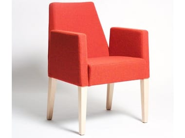 Upholstered easy chair with armrests SOFT | Easy chair with armrests