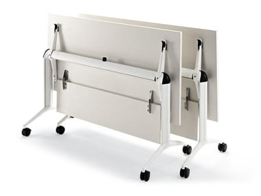 Office desk with flip-top with casters TRAMA