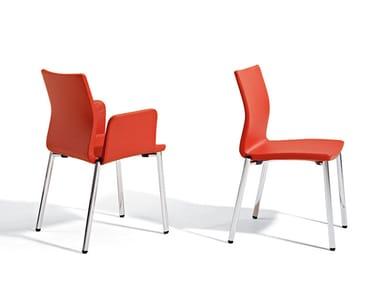 Cadeira de conferência com braços com prancheta UMA | Cadeira de conferência