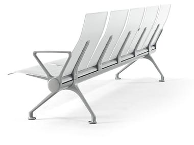 Beam seating with armrests AVANT