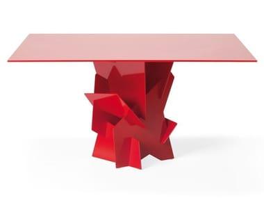Square glass table DIAMANTE | Square table