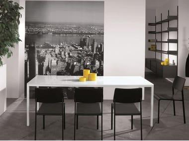 Rectangular custom table ERNESTO ICE | Rectangular table