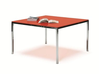 Lacquered square table ERNESTO ICE | Square table