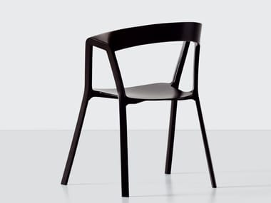 Stackable polypropylene chair COMPAS