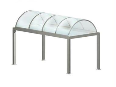 Modular aluminium door canopy TUNNEL