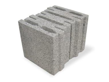 Thermal insulating concrete block BLOCVER