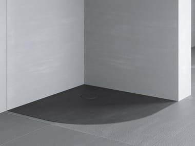 Corner flush fitting shower tray RAZOR | Corner shower tray