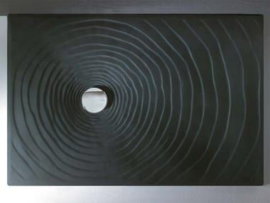 Rectangular ceramic shower tray WATER DROP 120 X 80   Ceramic shower tray