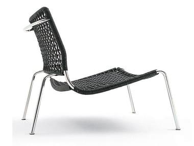 Garden steel and PVC easy chair FROG | Garden easy chair