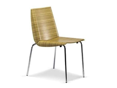 Multi-layer wood chair MILLEFOGLIE | Chair