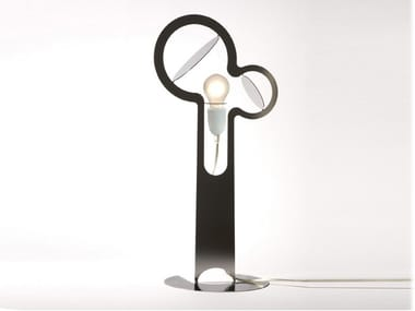Stainless steel table lamp ECLIPSE