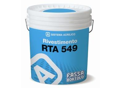 Rivestimento acrilico per superfici termo coibentate RTA 549