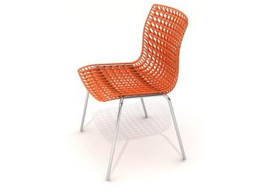 Stackable chair MOIRÈ | Stackable chair