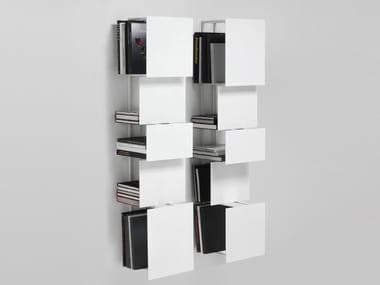 Wall-mounted steel bookcase BUKVA