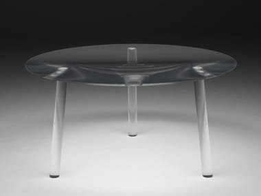 Mesa redonda de plexiglás DROP TABLE