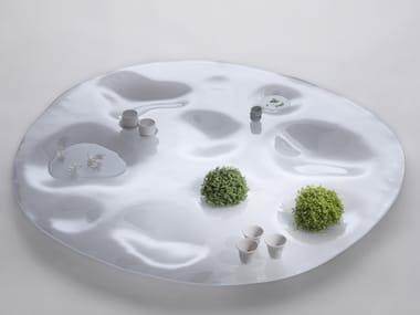 Mesa de centro baixa de vidro GARDEN PLATE