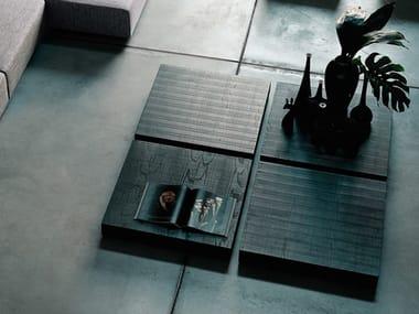 Tavolino basso quadrato in legno MENHIR