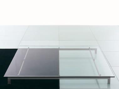 Tavolino quadrato in vetro METRO² | Tavolino