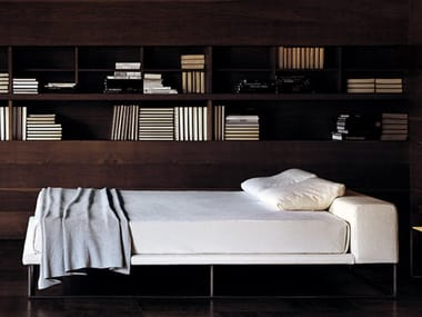 Double bed with upholstered headboard ILE | Bed