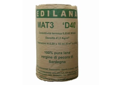 Natural insulating felt and panel for sustainable building EDILANA MAT3 D40