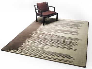 Rectangular wool rug DRIPPY