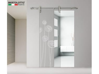 Glass sliding door without frame 3245 DECORO SOFFI