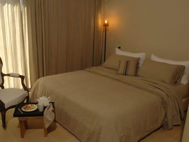 Solid-color embroidered linen bedding set CORALLI | Bedding set