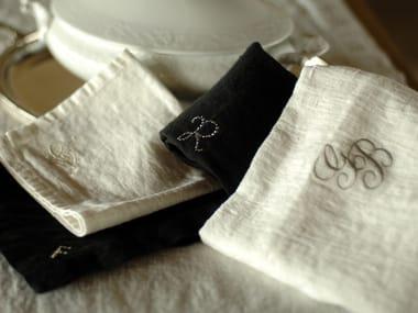 Linen table napkin PERSONALIZZAZIONI