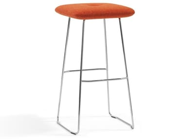 High chrome plated steel stool DUNDRA | High stool