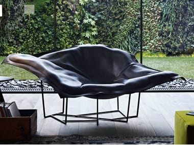 Leather armchair WALLACE