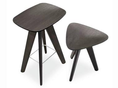 Sgabello / tavolino in legno ICS