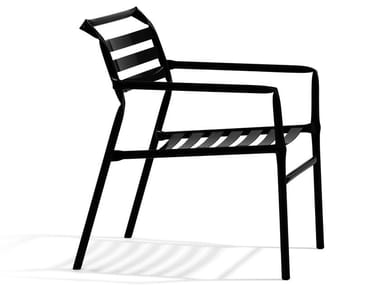 Garden stackable easy chair with armrests STRAW | Easy chair