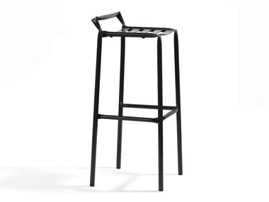High stool with footrest STRAW | High stool