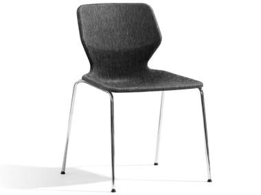 Cadeira empilhável de tecido BOO | Cadeira de tecido