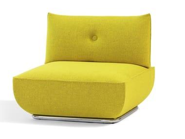 Upholstered fabric armchair DUNDER | Armchair