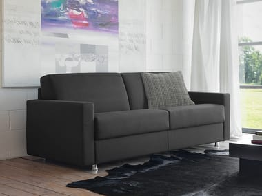 Fabric sofa bed with removable cover LAMPO
