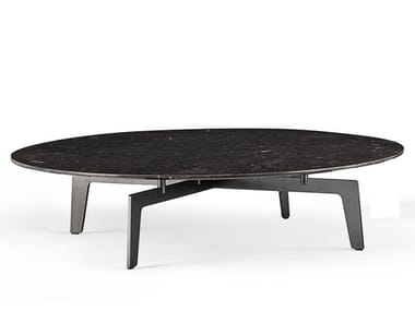 Low round oak coffee table TRIBECA | Low coffee table