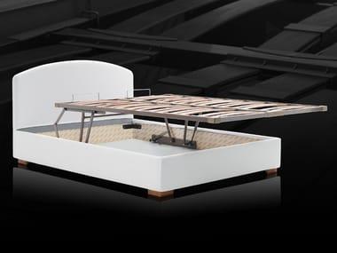 Slatted orthopedic bed base with storage KOMODO