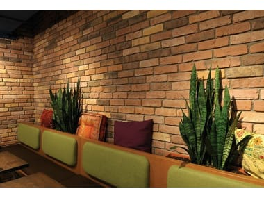 Reconstructed stone wall tiles with brick effect GRANULIT 50