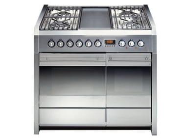 Cucina a libera installazione in acciaio inox SINTESI 100