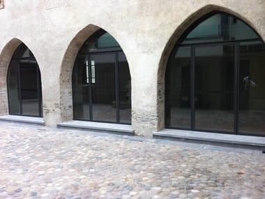 Porta-finestra a battente in acciaio zincato MOGS BASIC | Porta-finestra
