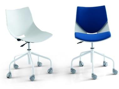 Chair with castors POLI